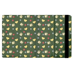 Green Milk Hearts Apple Ipad Pro 12 9   Flip Case by snowwhitegirl