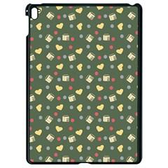 Green Milk Hearts Apple Ipad Pro 9 7   Black Seamless Case by snowwhitegirl