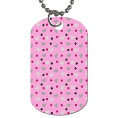 Pink Milk Hearts Dog Tag (two Sides) by snowwhitegirl