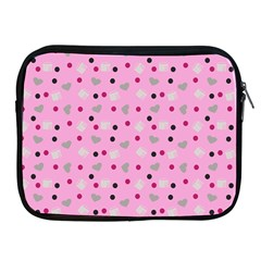 Pink Milk Hearts Apple Ipad 2/3/4 Zipper Cases by snowwhitegirl