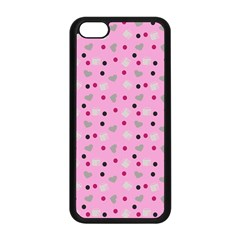 Pink Milk Hearts Apple Iphone 5c Seamless Case (black) by snowwhitegirl
