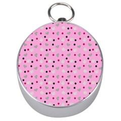 Pink Milk Hearts Silver Compasses by snowwhitegirl