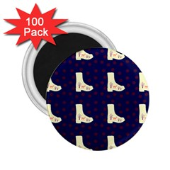 Navy Boots 2 25  Magnets (100 Pack)  by snowwhitegirl