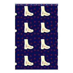 Navy Boots Shower Curtain 48  X 72  (small)  by snowwhitegirl