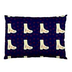 Navy Boots Pillow Case (two Sides) by snowwhitegirl
