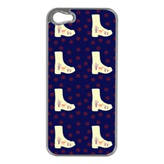 Navy Boots Apple Iphone 5 Case (silver)