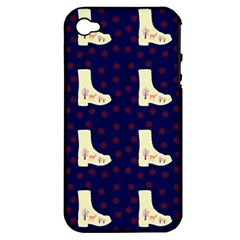 Navy Boots Apple Iphone 4/4s Hardshell Case (pc+silicone) by snowwhitegirl