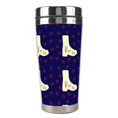 Navy Boots Stainless Steel Travel Tumblers by snowwhitegirl