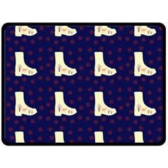 Navy Boots Double Sided Fleece Blanket (large)  by snowwhitegirl