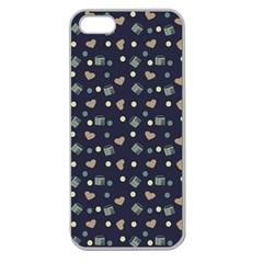 Blue Milk Hearts Apple Seamless Iphone 5 Case (clear) by snowwhitegirl