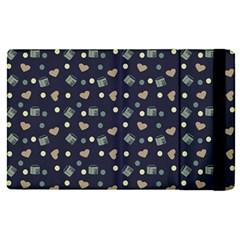 Blue Milk Hearts Apple Ipad Pro 12 9   Flip Case by snowwhitegirl
