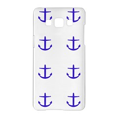 Royal Anchors On White Samsung Galaxy A5 Hardshell Case  by snowwhitegirl