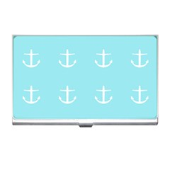 Aqua Anchor Business Card Holders by snowwhitegirl