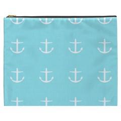 Aqua Anchor Cosmetic Bag (xxxl)  by snowwhitegirl