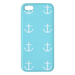 Aqua Anchor Apple Iphone 5 Premium Hardshell Case by snowwhitegirl