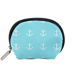 Aqua Anchor Accessory Pouches (small)  by snowwhitegirl