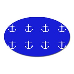 Royal Anchors Oval Magnet