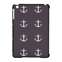 Grey Anchors Apple Ipad Mini Hardshell Case (compatible With Smart Cover) by snowwhitegirl