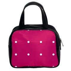 Small Pink Dot Classic Handbags (2 Sides) by snowwhitegirl