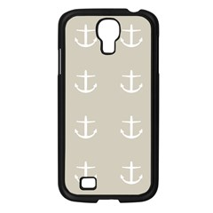 Lt Grey Anchors Samsung Galaxy S4 I9500/ I9505 Case (black) by snowwhitegirl