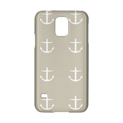 Lt Grey Anchors Samsung Galaxy S5 Hardshell Case  by snowwhitegirl