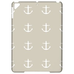 Lt Grey Anchors Apple Ipad Pro 9 7   Hardshell Case by snowwhitegirl