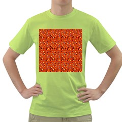 Red Retro Dots Green T Shirt