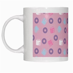 Milk And Donuts Pink White Mugs