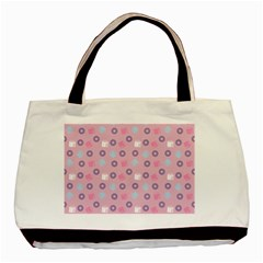 Milk And Donuts Pink Basic Tote Bag by snowwhitegirl