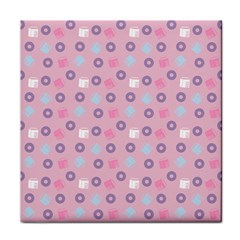 Milk And Donuts Pink Face Towel by snowwhitegirl