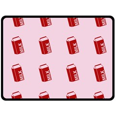 Strawberry Milk Double Sided Fleece Blanket (large)  by snowwhitegirl