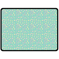 Light Teal Hearts Fleece Blanket (large)  by snowwhitegirl
