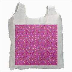Pink Heart Drops Recycle Bag (one Side) by snowwhitegirl