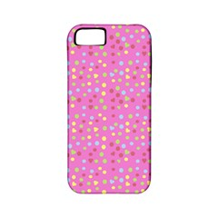 Pink Heart Drops Apple Iphone 5 Classic Hardshell Case (pc+silicone) by snowwhitegirl