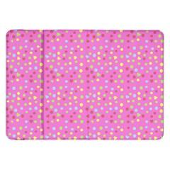 Pink Heart Drops Samsung Galaxy Tab 8 9  P7300 Flip Case by snowwhitegirl