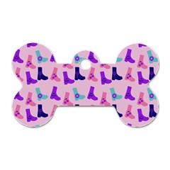 Candy Boots Dog Tag Bone (one Side) by snowwhitegirl