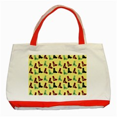 Yellow Boots Classic Tote Bag (red) by snowwhitegirl