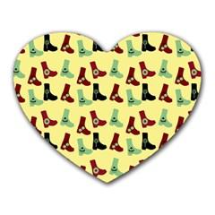 Yellow Boots Heart Mousepads by snowwhitegirl