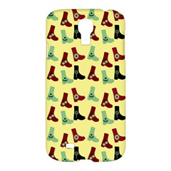 Yellow Boots Samsung Galaxy S4 I9500/i9505 Hardshell Case by snowwhitegirl