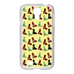 Yellow Boots Samsung Galaxy S4 I9500/ I9505 Case (white) by snowwhitegirl