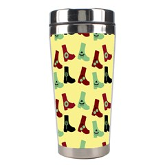 Yellow Boots Stainless Steel Travel Tumblers by snowwhitegirl