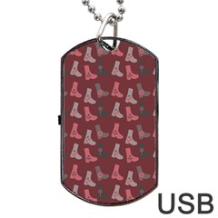 Rosegrey Boots Dog Tag Usb Flash (one Side) by snowwhitegirl