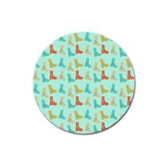 Blue Orange Boots Magnet 3  (round) by snowwhitegirl