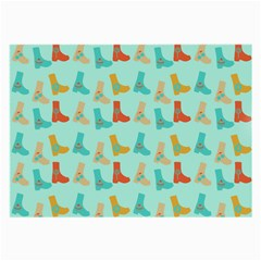 Blue Orange Boots Large Glasses Cloth (2 Side) by snowwhitegirl