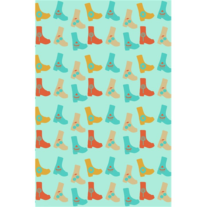 Blue Orange Boots 5.5  x 8.5  Notebooks