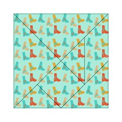 Blue Orange Boots Acrylic Tangram Puzzle (6  X 6 ) by snowwhitegirl