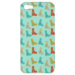 Blue Orange Boots Apple Iphone 5 Hardshell Case by snowwhitegirl