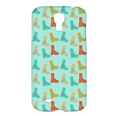 Blue Orange Boots Samsung Galaxy S4 I9500/i9505 Hardshell Case by snowwhitegirl