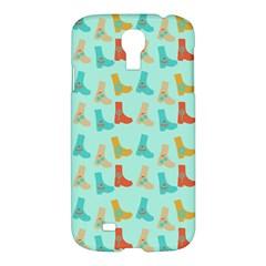 Blue Orange Boots Samsung Galaxy S4 I9500/i9505 Hardshell Case by snowwhitegirl
