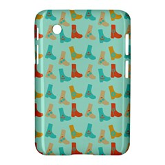 Blue Orange Boots Samsung Galaxy Tab 2 (7 ) P3100 Hardshell Case  by snowwhitegirl
